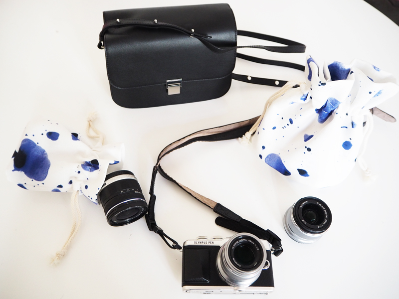 olympus pen leather camera bag and lens bag accessories