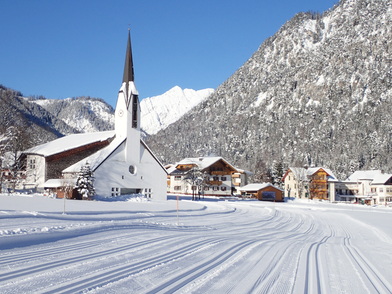 cross country ski slopes Pertisau am Achensee