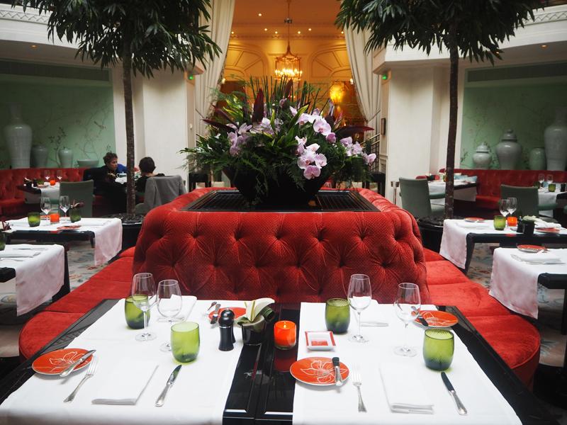 La Bauhinia restaurant of Shangri La hotel Paris