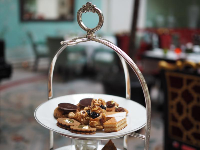 cakes at La Bauhinia vegan afternoon tea Shangri La hotel Paris