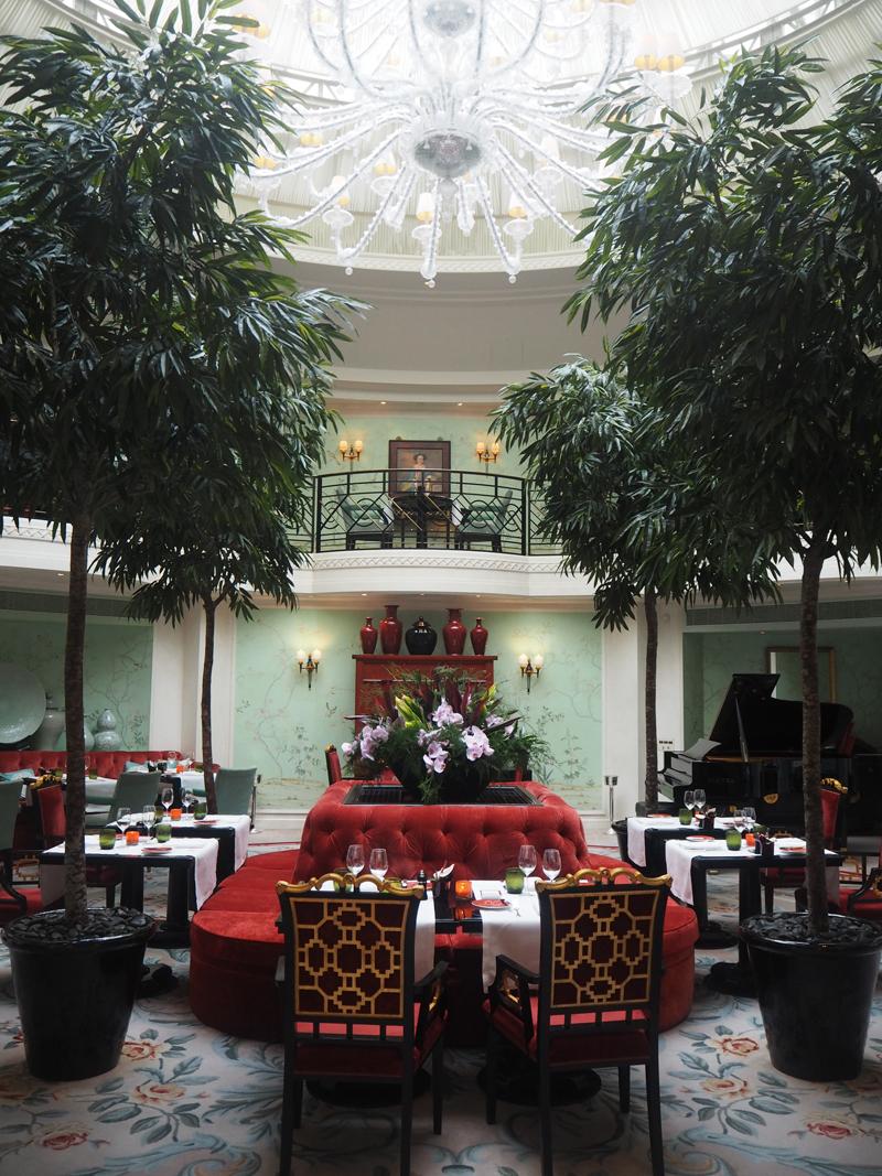 interior La Bauhinia restaurant at Shangri La hotel Paris