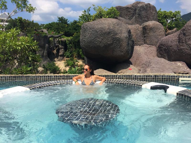 Amandine travel blogger hot spring Vietnam BMTM fam trip 2016