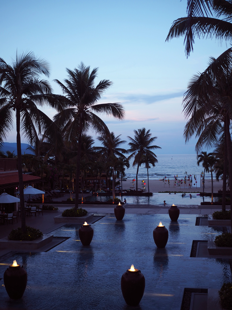 luxury hotel Da Nang sunset at Futurama resort
