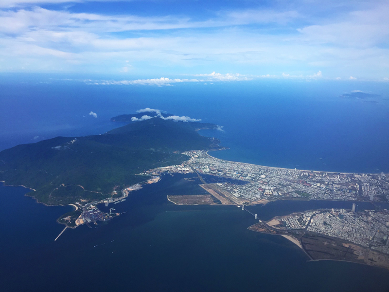 Da Nang Vietnam aerial view