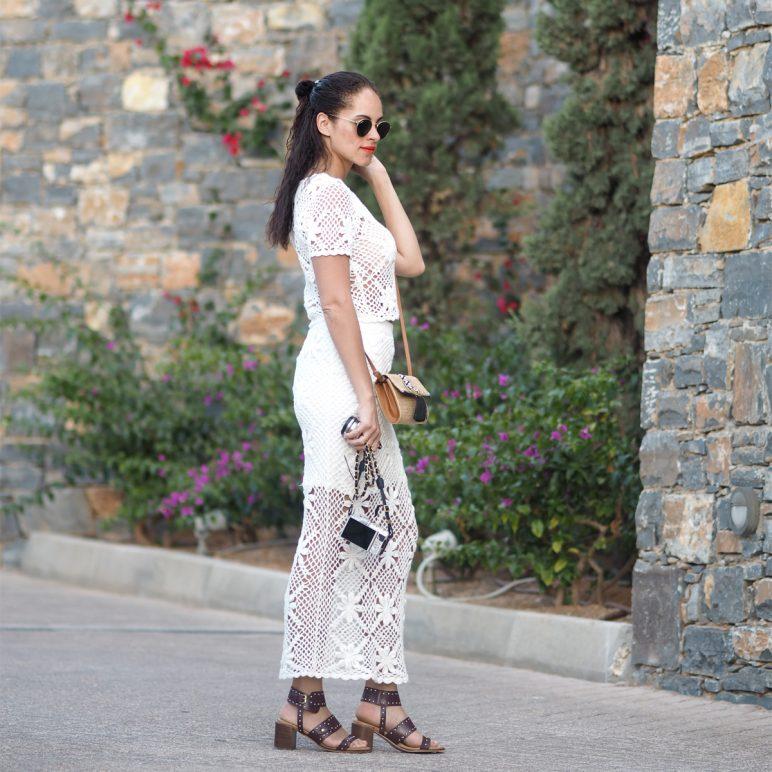 Summer outfit – crochet ankle length skirt