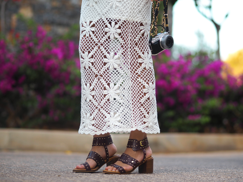 Summer outfit crochet ankle length dress Olympus PEN E-PL7