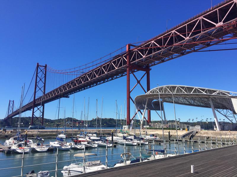 Lisbon bridge from the marina