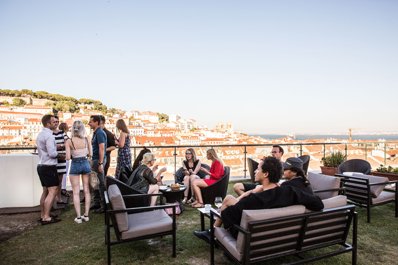 Weekend in Lisbon - things to do in Lisbon going out encantato rooftop bar