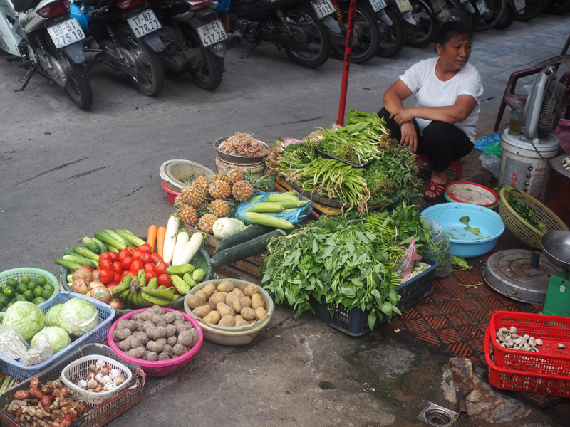 Pictures Hanoi old quarter street vendor