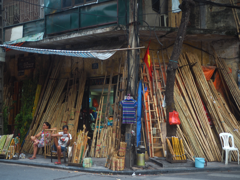 Pictures Hanoi old quarter bamboo shop