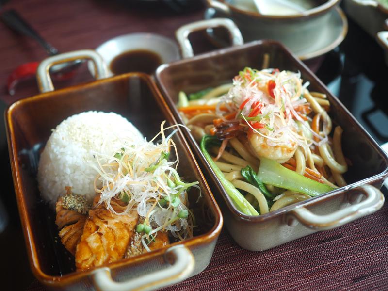 Food at Bamboo Chic restaurant in Saigon