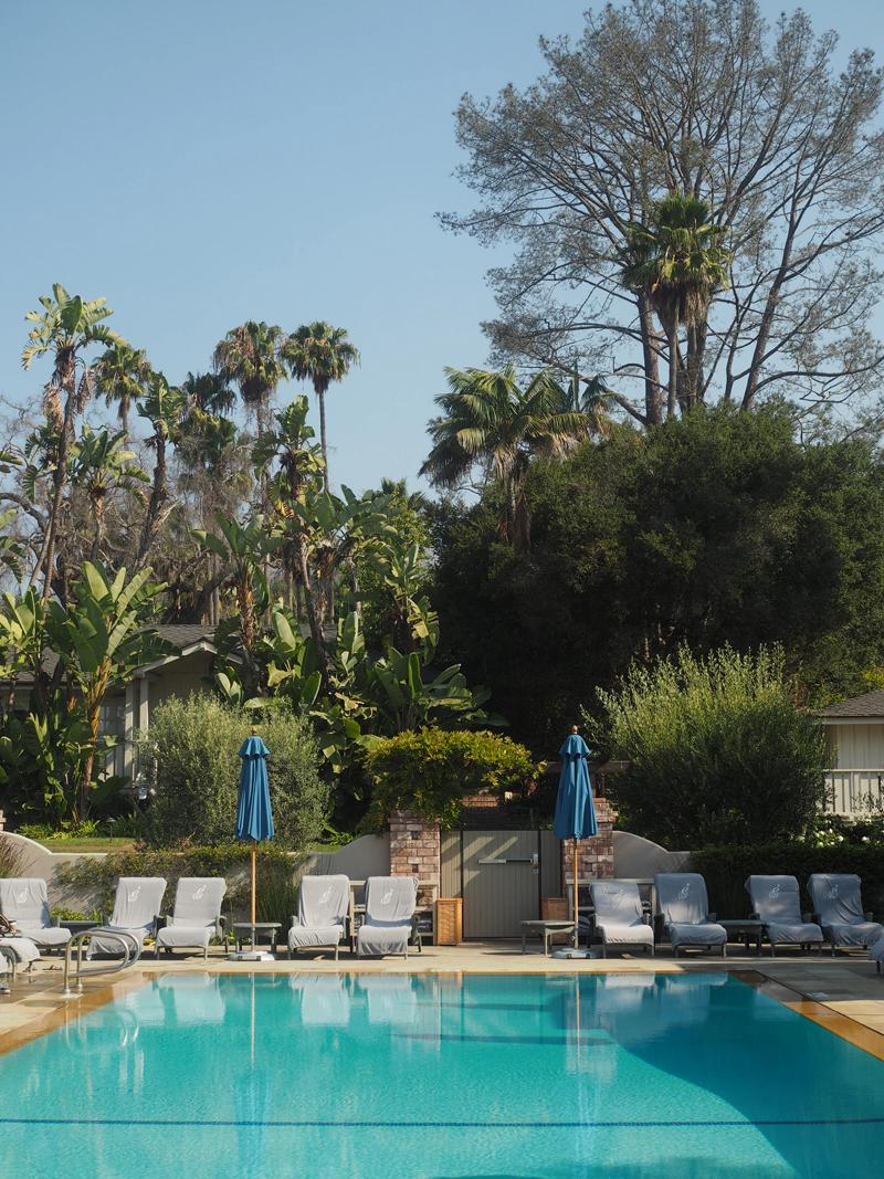 Amazing pool at resort at Belmond El Encanto in Santa Barbara