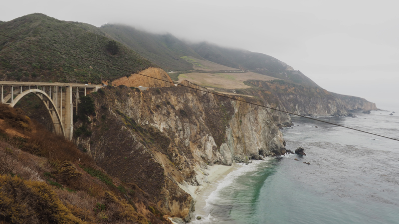 California road trip highlight highway 1 Pacific road Big Sur Bixby creek bridge