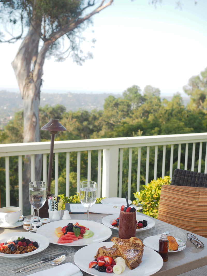 Breakfast at Bedroom at Belmond El Encanto in Santa Barbara