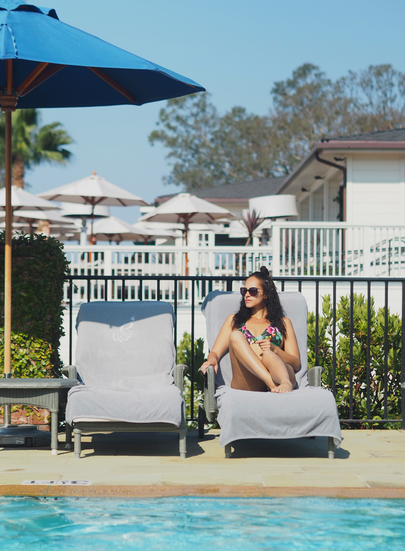 lifestyle blogger Bedroom at Belmond El Encanto in Santa Barbara