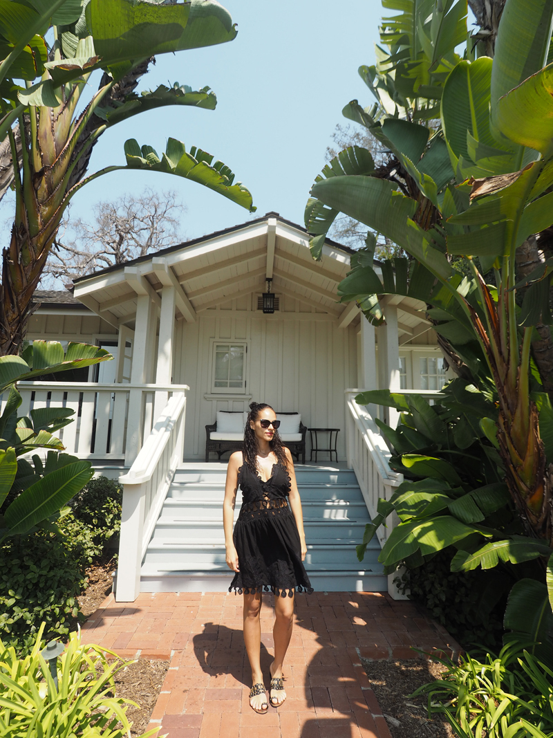 luxury travel blogger at lifestyle blogger Bedroom at Belmond El Encanto in Santa Barbara