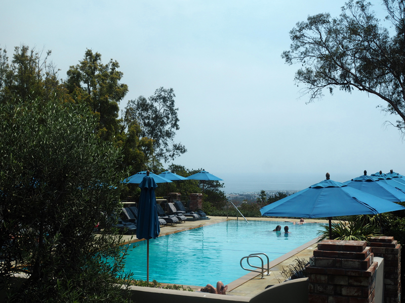 pool lifestyle blogger Bedroom at Belmond El Encanto in Santa Barbara