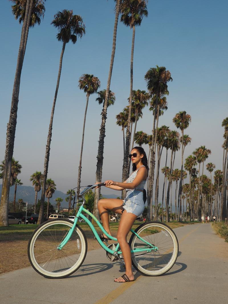 travel blogger Santa Barbara bike tour