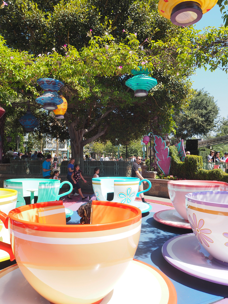Disneyland and California adventure in one day Mad tea party