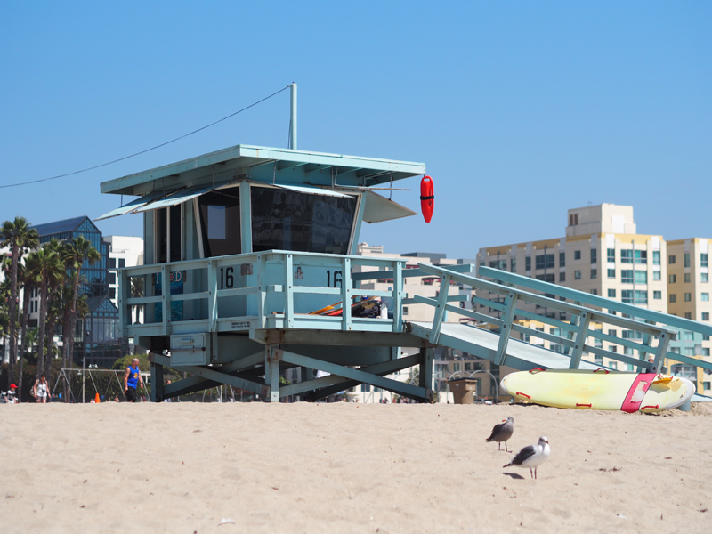 Santa Monica lifeguard house Los Angeles
