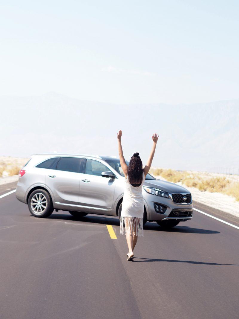 travel blogger California road trip Death Valley national park Kia Sorento drivekia