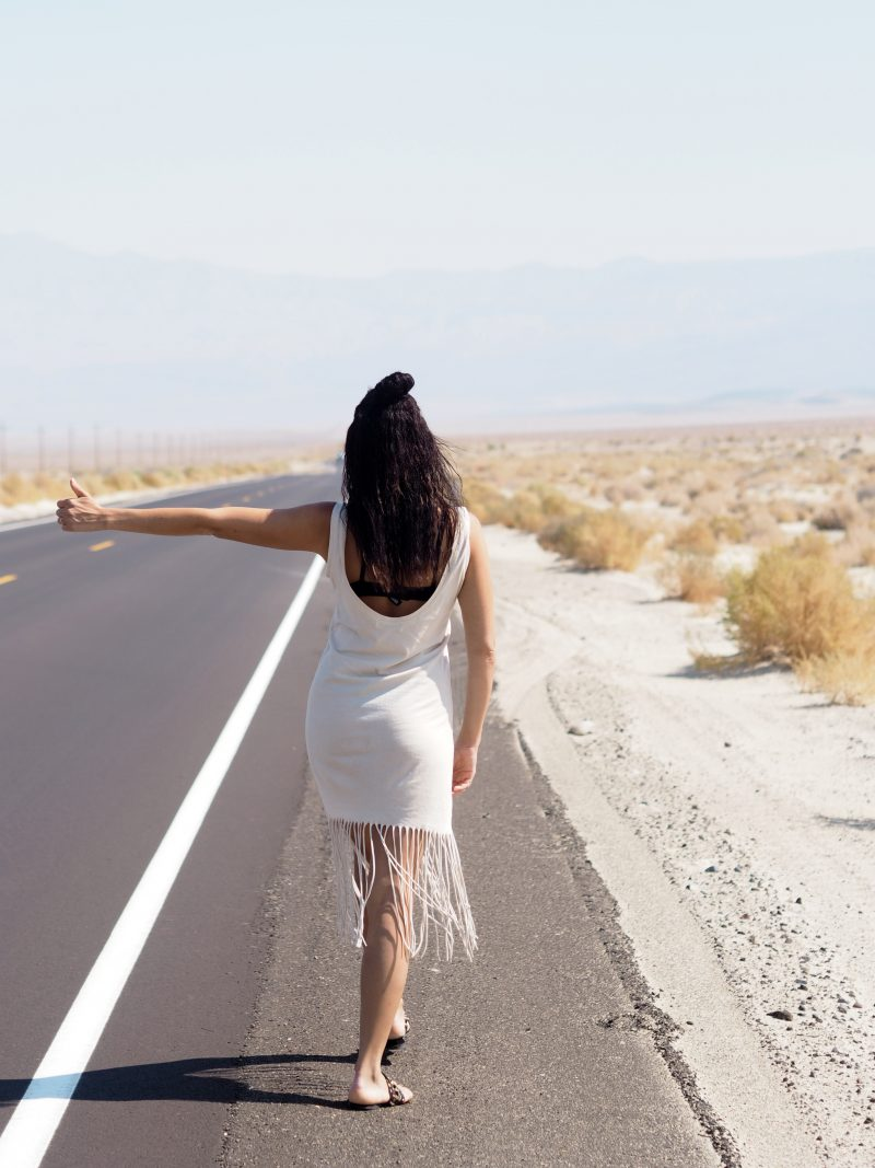 travel blogger in Death Valley California
