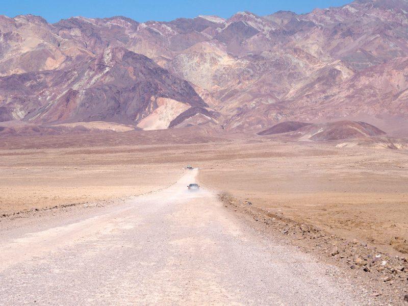 California road trip driving through Death Valley artist Palette