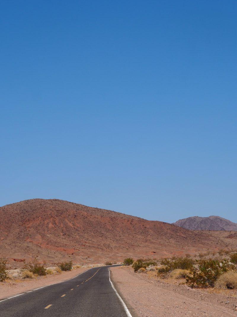 California road trip driving through Death Valley road
