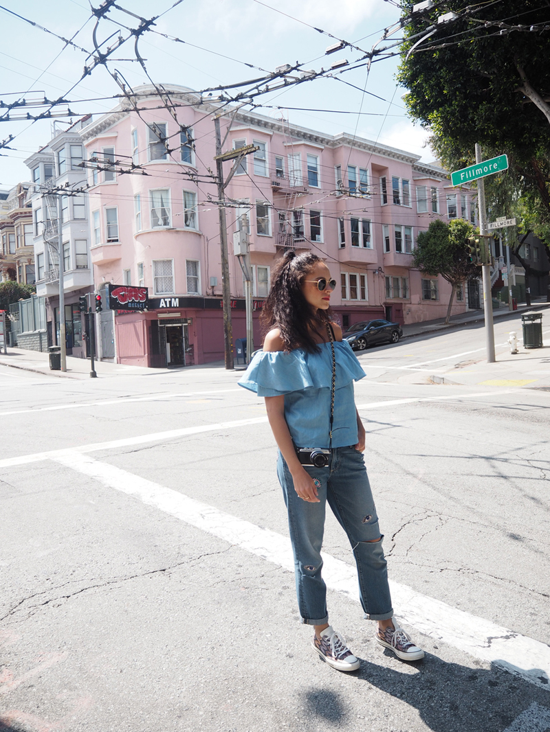 german fashion blogger wearing Paife broyfriend jeans on A day in San Francisco