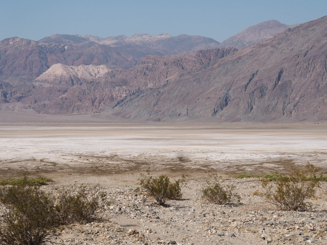 driving through death valley badwater basin