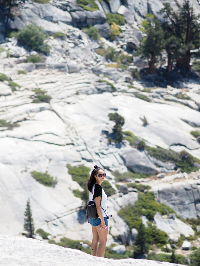 travel blogger at Yosemite California road trip