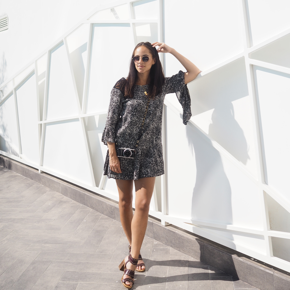 Outfit - Wearing a Volcom whiskey mountain dress