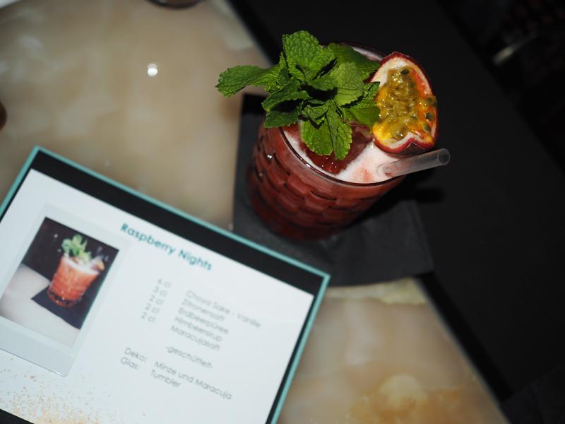 cocktails at Catwalk bar Michalsky Berlin Marriott