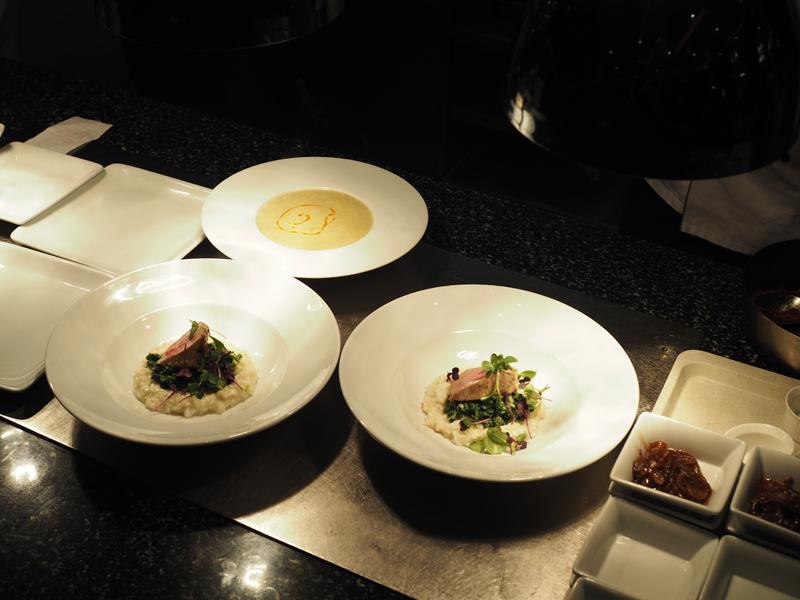 dinner at Midtown grill Berlin Marriott hotel