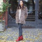 Outfit – Leopard coat and Vagabond red booties