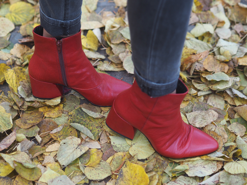 red booties Vagabond shoes