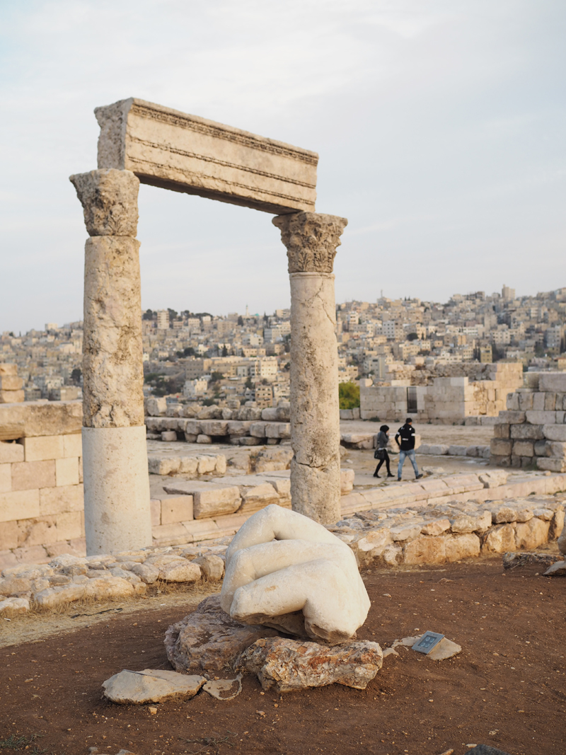 Traveling to Jordan one day in Amman Hercules temple