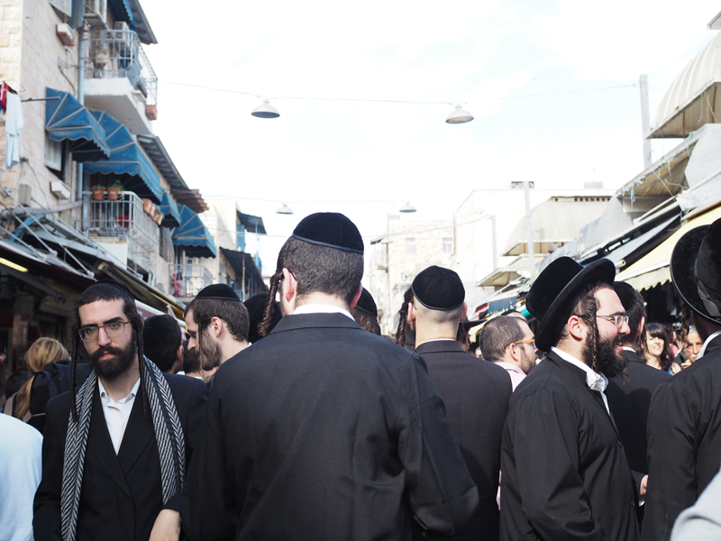 Jews at Mahane Yehuda Market Jerusalem