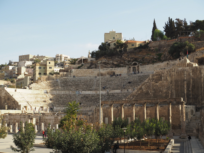 Traveling to Jordan Amman city roman theatre