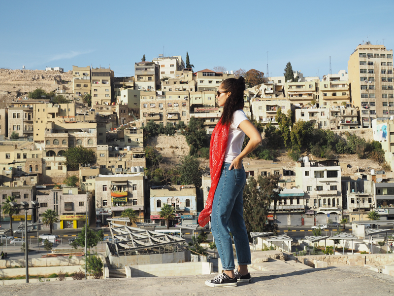 travel blogger Traveling to Jordan one day in Amman