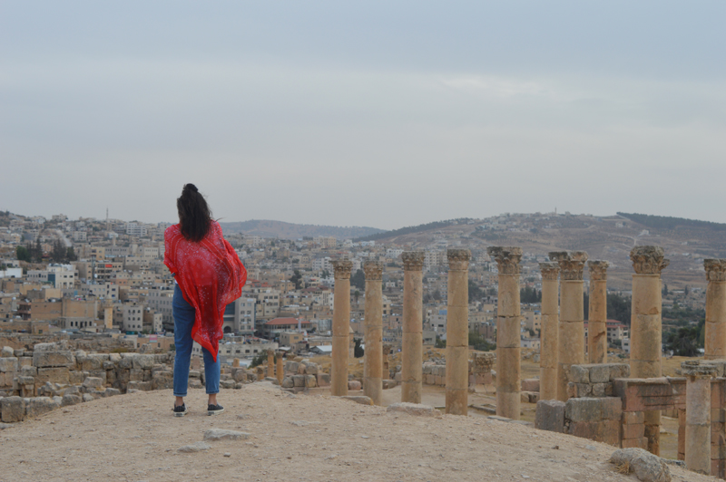 german travel blogger in Jerash Jordan
