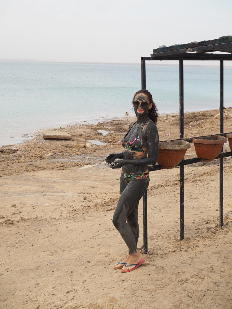 travel blogger at Dead Sea Movenpick Jordan