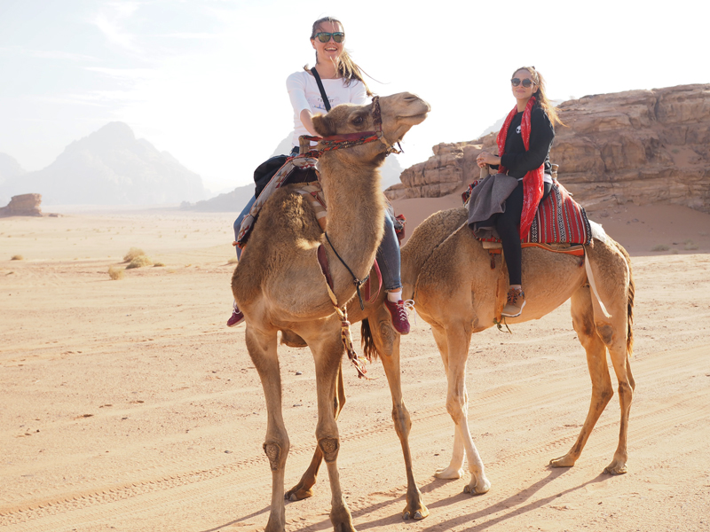 travel blogger traveling to Jordan Wadi Rum desert