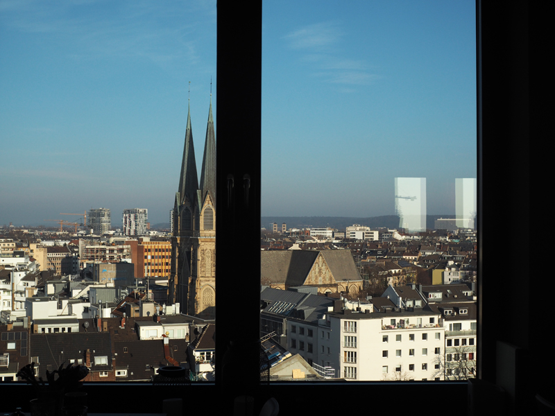 Review Me and All Hotel Düsseldorf city view