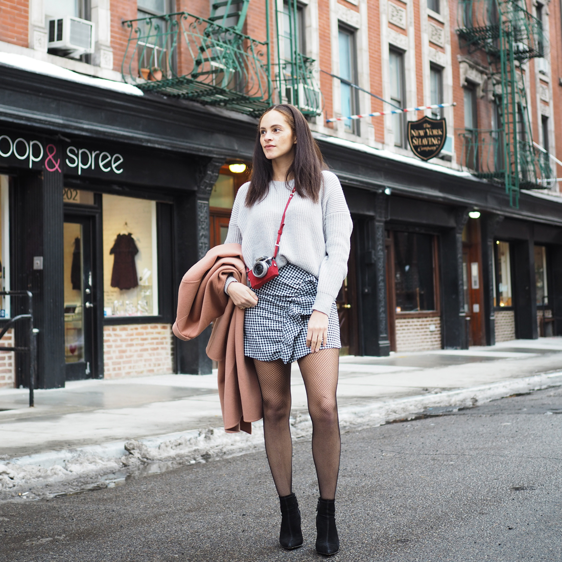 Outfit – Tartan skirt an Isabel Marant Etoile Wilma skirt look a like