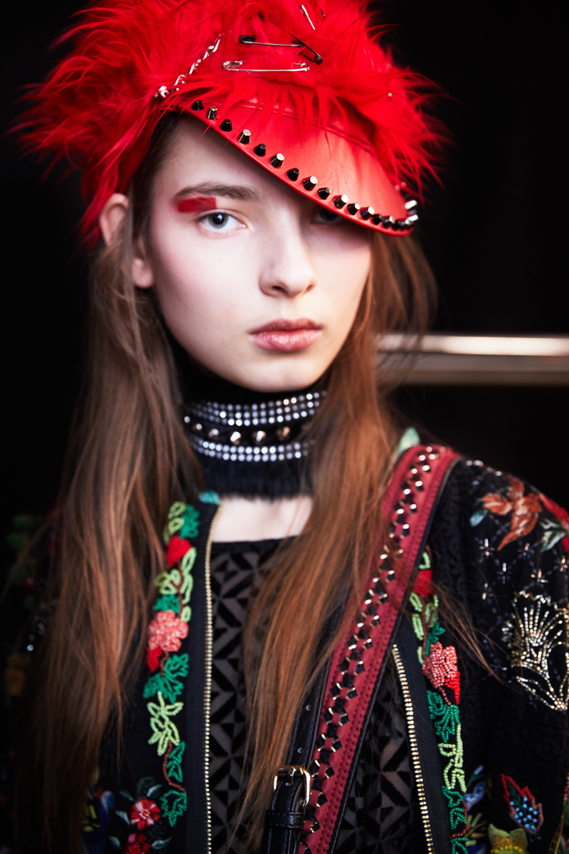 Desigual New York Fashion Week Ambra Vernuccio Backstage