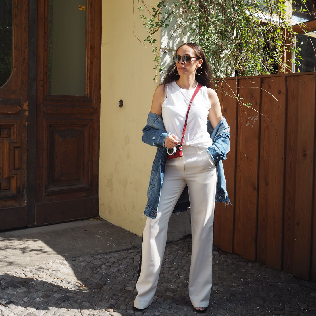 Spring outfit – Lacoste wide leg pants