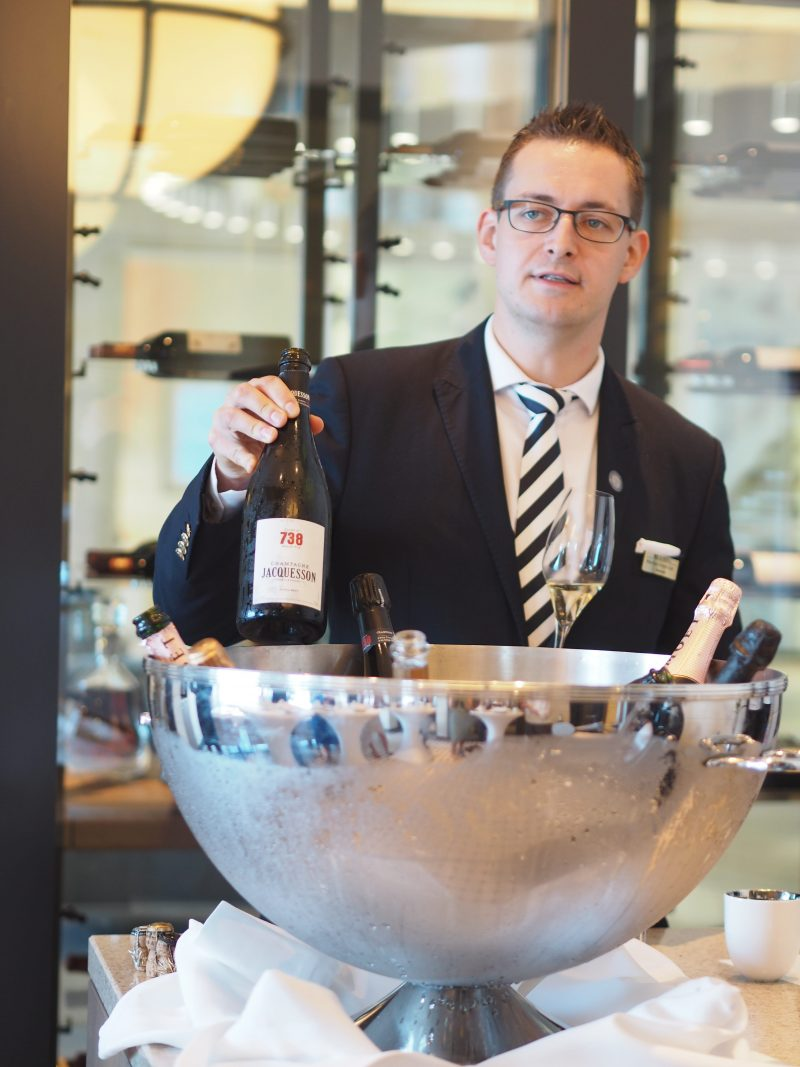 Champagne tasting MS Europa 2 luxury cruise ship bis-min