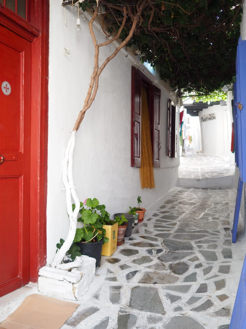 Cyclades Island Naxos Greece narrow streets