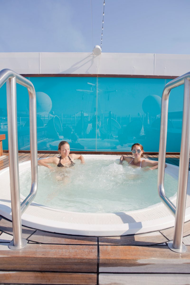 On board one of the most luxurious cruise ship : The MS Europa 2 jacuzzi